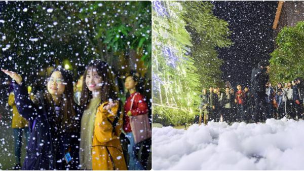 Giáng sinh năm nay, Hà Nội sẽ hứng cơn mưa tuyết lãng mạn như mùa đông châu Âu