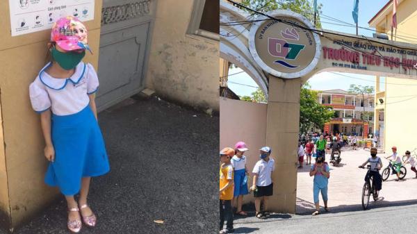 Học sinh bị phê bình, đứng ở cổng trường giữa trưa nắng vì... đi học sớm