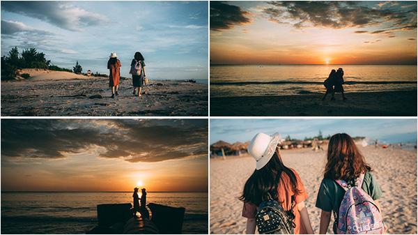 """Quảng Bình quê tôi ơi, chỉ là khoảnh khắc đón bình minh của đôi bạn trên biển sao lại """"tình"""" đến thế!"""