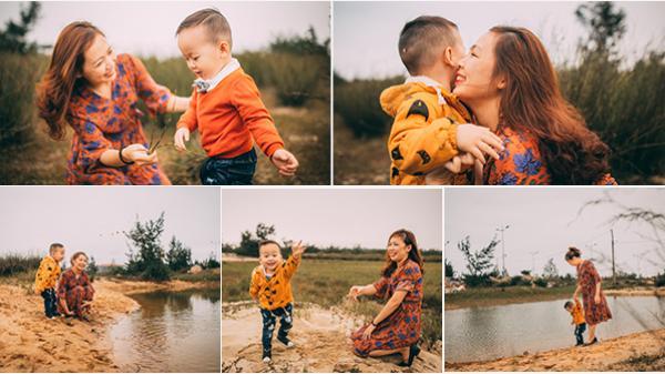 Tình mẫu tử là tình cảm đẹp nhất trên đời - bộ ảnh của cặp mẹ con xứ Quảng khiến ai cũng thổn thức nhớ Mẹ