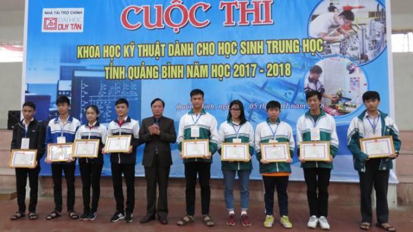 Quảng Bình có 5 dự án tham gia cuộc thi Khoa học kỹ thuật dành cho học sinh trung học cấp Quốc gia