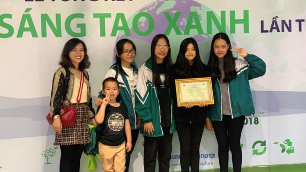 Học sinh Trường THCS Đồng Phú, TP Đồng Hới giành giải nhất giải thưởng Sáng tạo xanh do Bộ Tài nguyên và Môi trường tổ chức