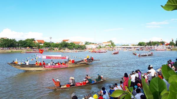 Hấp dẫn lễ hội đua, bơi thuyền truyền thống trên sông Kiến Giang
